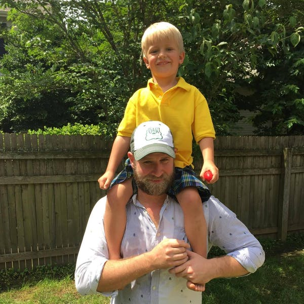 Cullen Wyatt with son