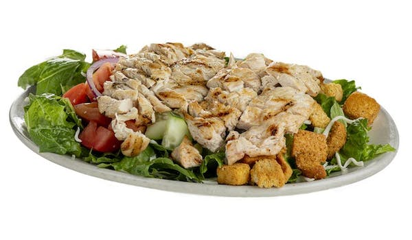 a plate of chicken salad