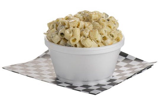 a bowl of macaroni salad