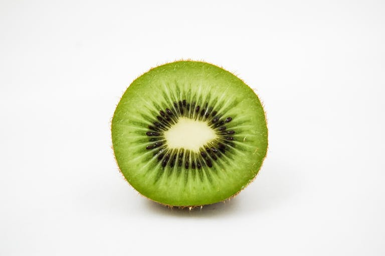 a close up of a kiwi