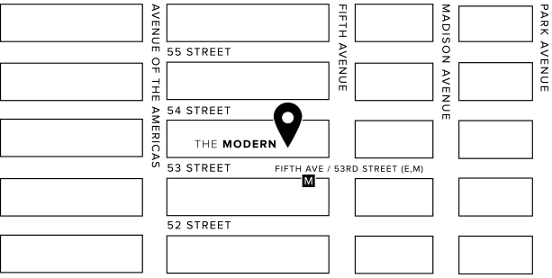 map of where the modern is located
