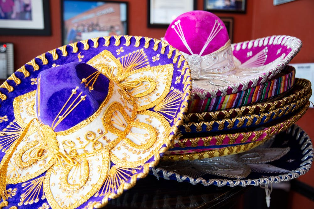 a close up of mexican hats