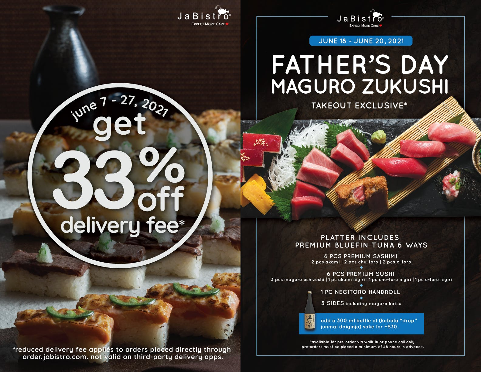 Fathers Day and reduced delivery fee