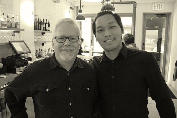 Photo of Danny Emerman with Rinzin G.