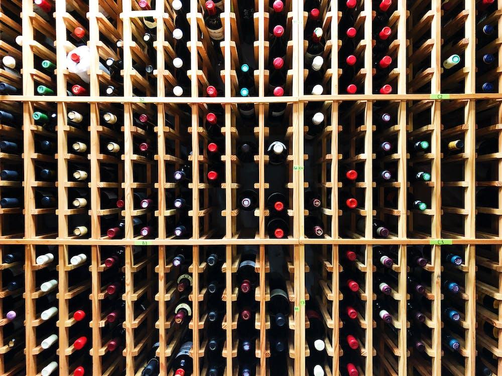 a close up of a shelf