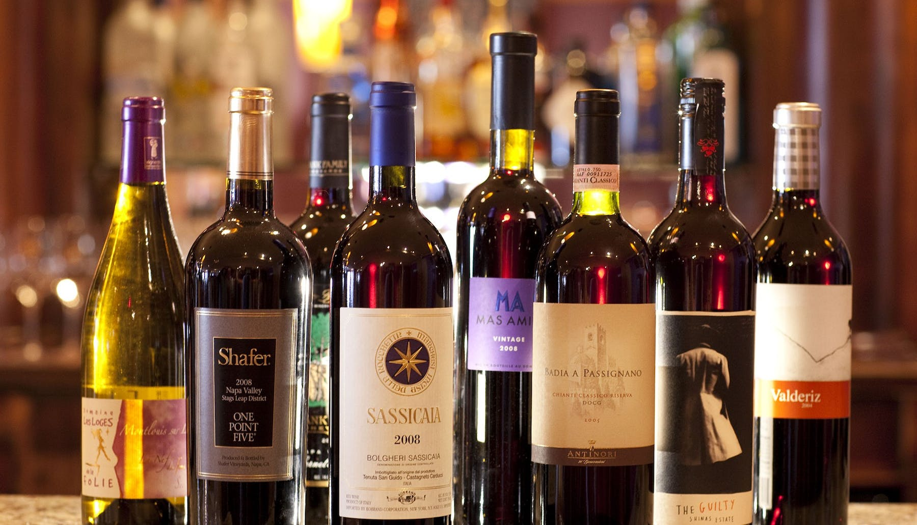 wines in a baltimore bar