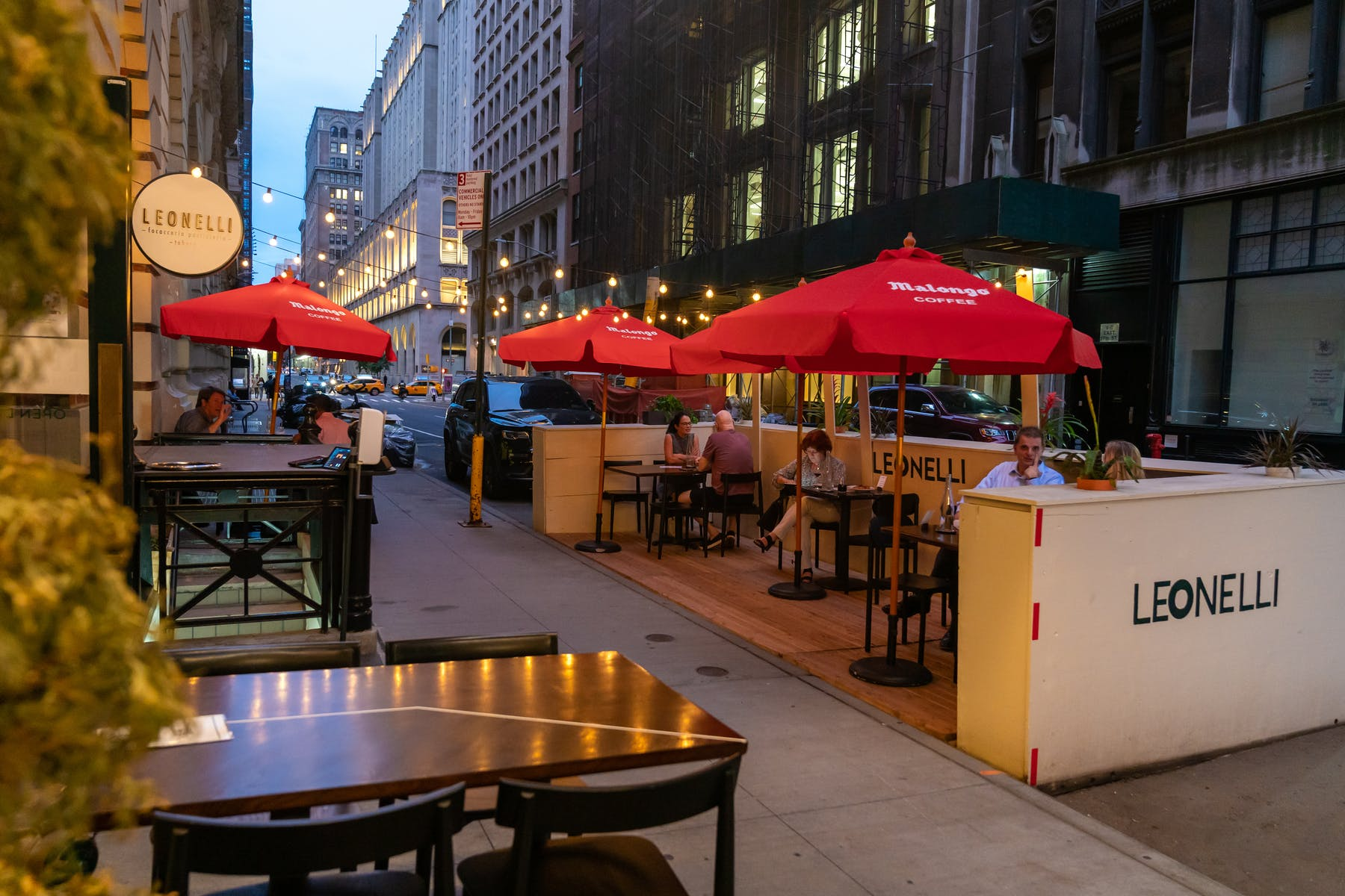 Leonelli Taberna Exterior Outdoor Dining NYC