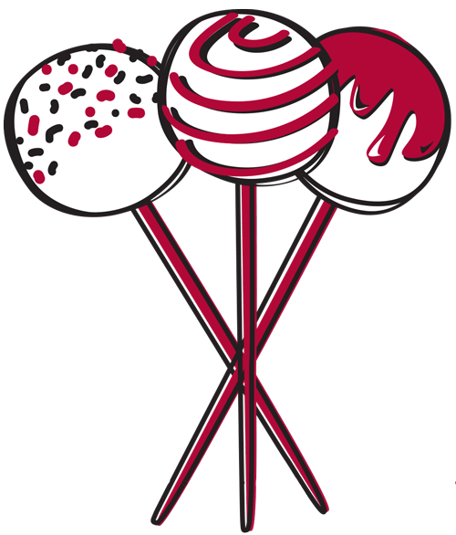 a drawing of cake pop sticks