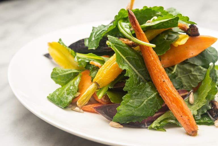 A roasted carrot salad.