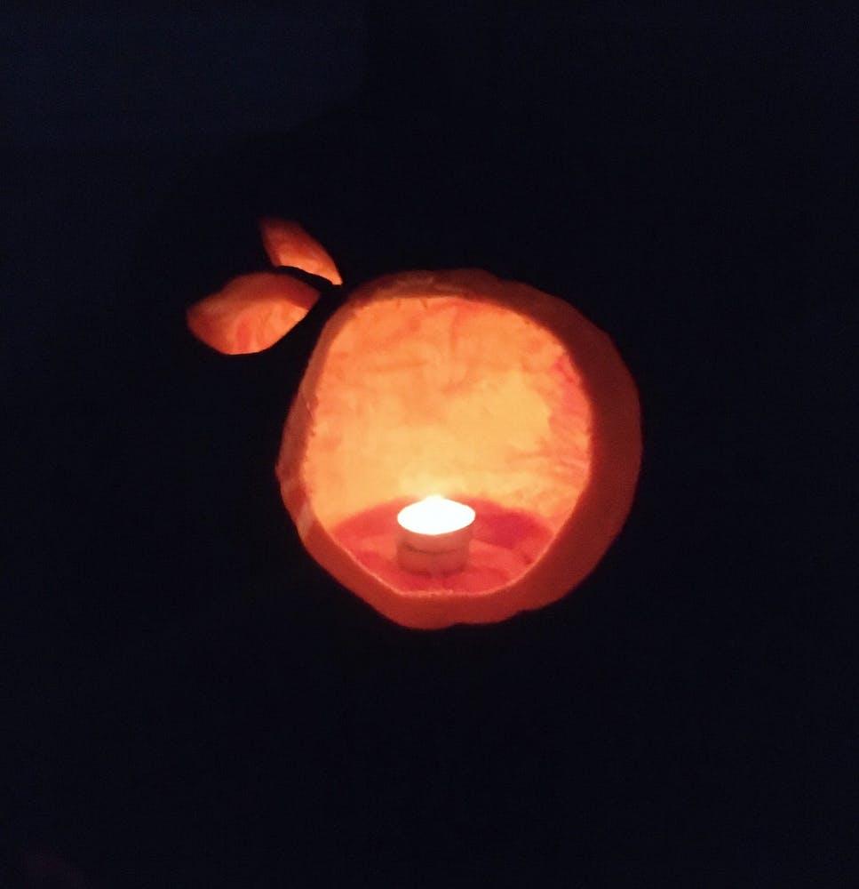 clementine shaped jack o lantern