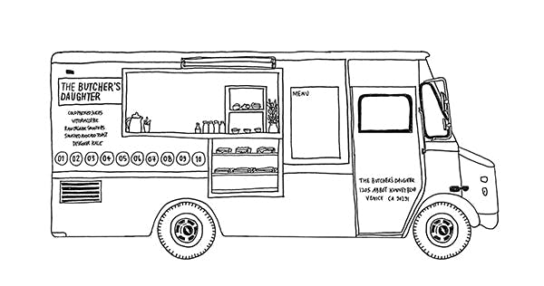 the butcher's daughter food truck drawing