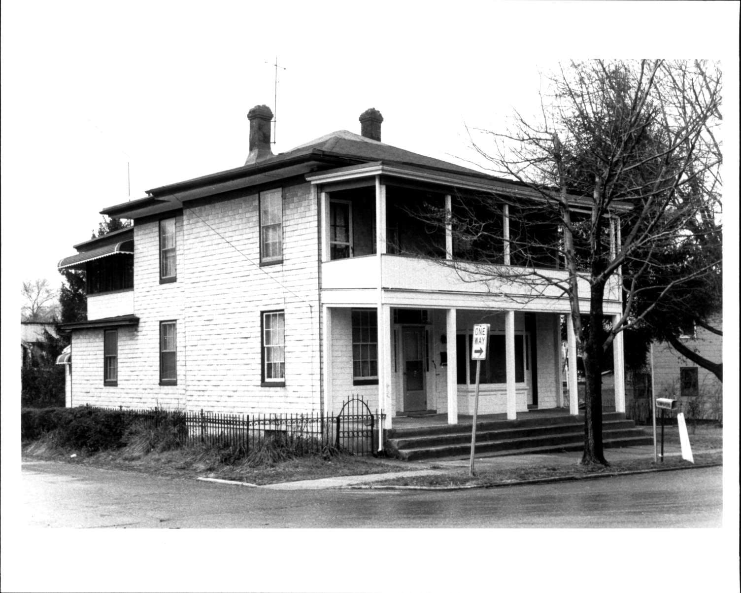 a vintage photo of a house