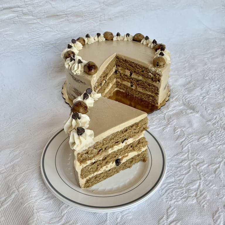 a piece of cake sitting on top of a table