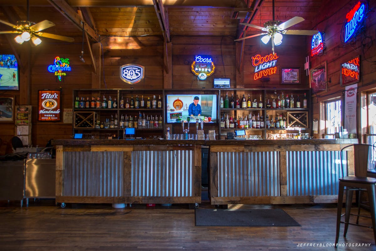 Maverick Saloon restaurant bar.