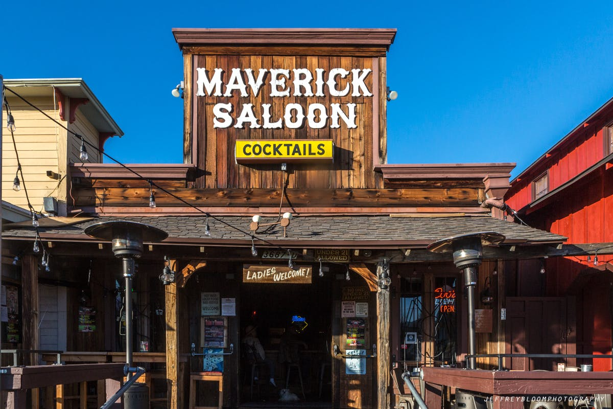Maverick Saloon restaurant front yard.