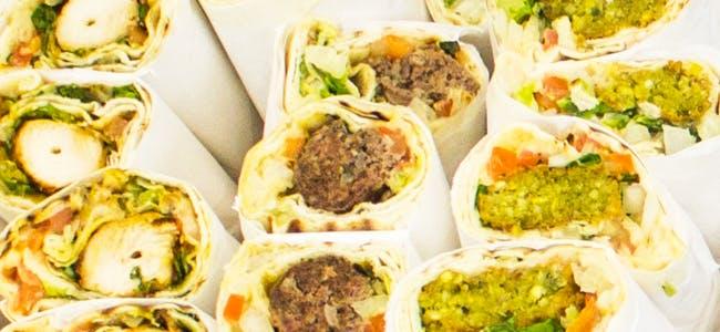 Egyptian Food, Falafel Wrap, Chicken Kabab Wrap, Beef Kabab Wrap