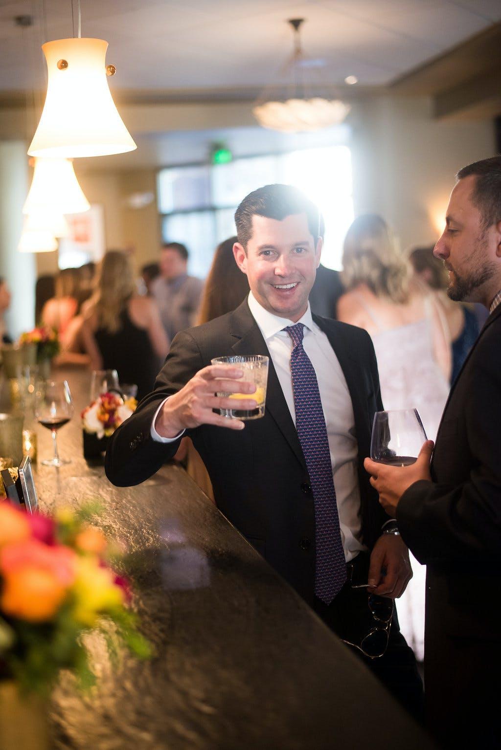 Larkspur Wedding Venue Vail Colorado Mountain Patio Outdoors Bar Cheers