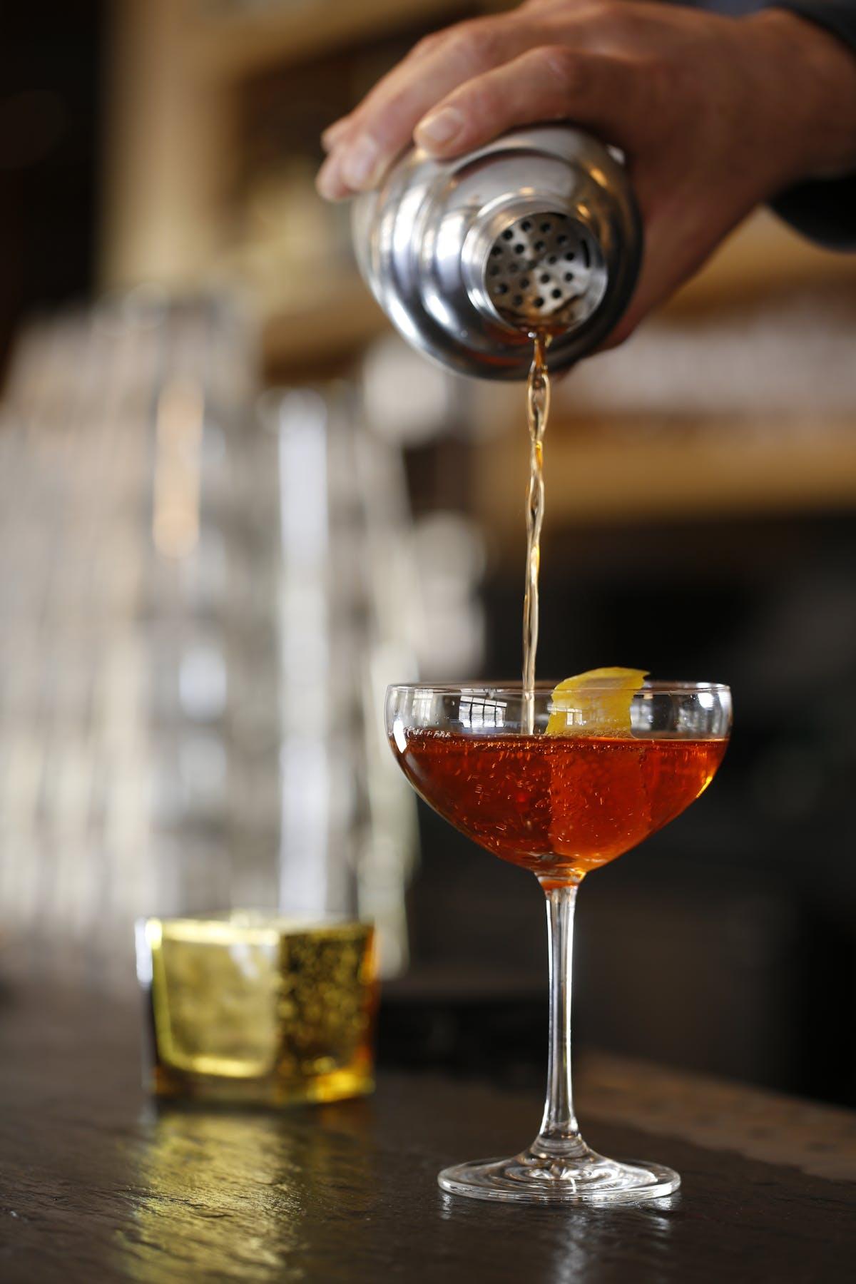 Larkspur Wedding Venue Vail Colorado Mountain Patio Bar Specialty Cocktail