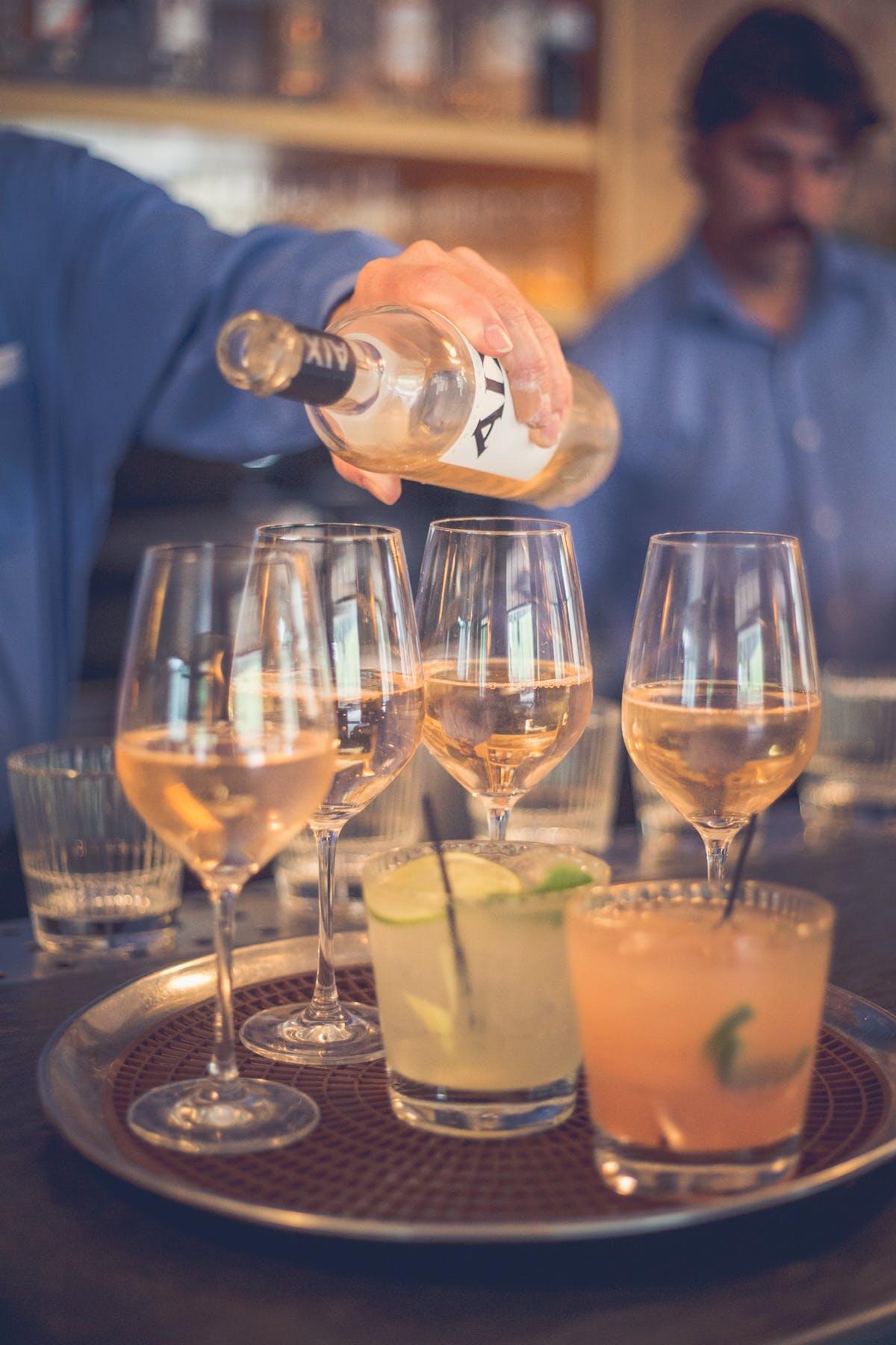 Larkspur Wedding Venue Vail Colorado Mountain Patio Outdoors Passed Drinks