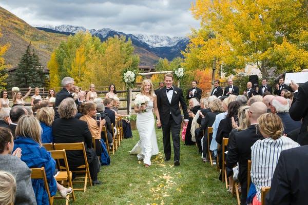 Vail Colorado Mountain Wedding Venue Outdoor Ceremony