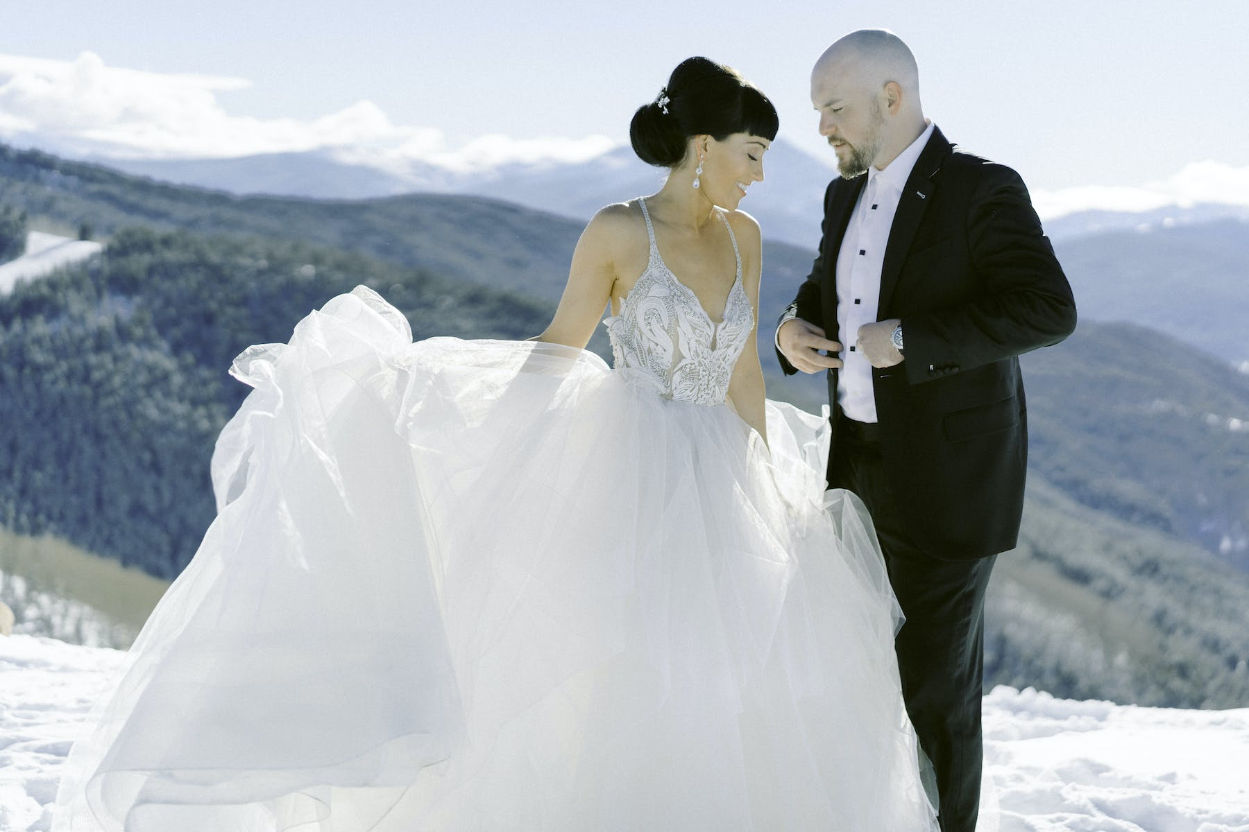 Larkspur Wedding Venue Vail Colorado Mountain Wedding Winter