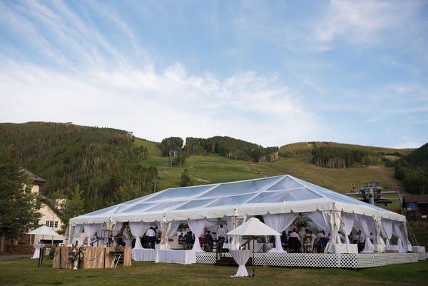 Tented Reception Vail Colorado Mountainside Wedding Venue