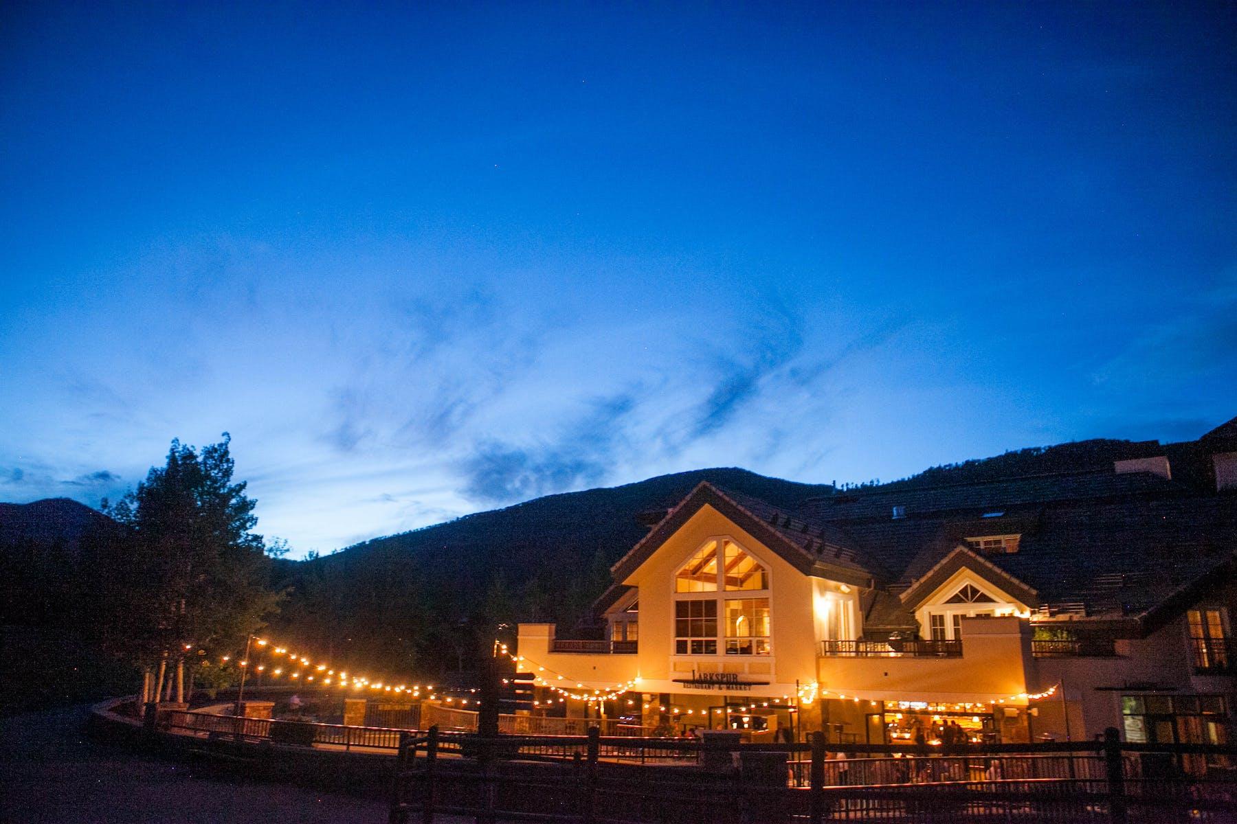 Larkspur Restaurant Events Weddings Vail Colorado Mountainside Patio Deck