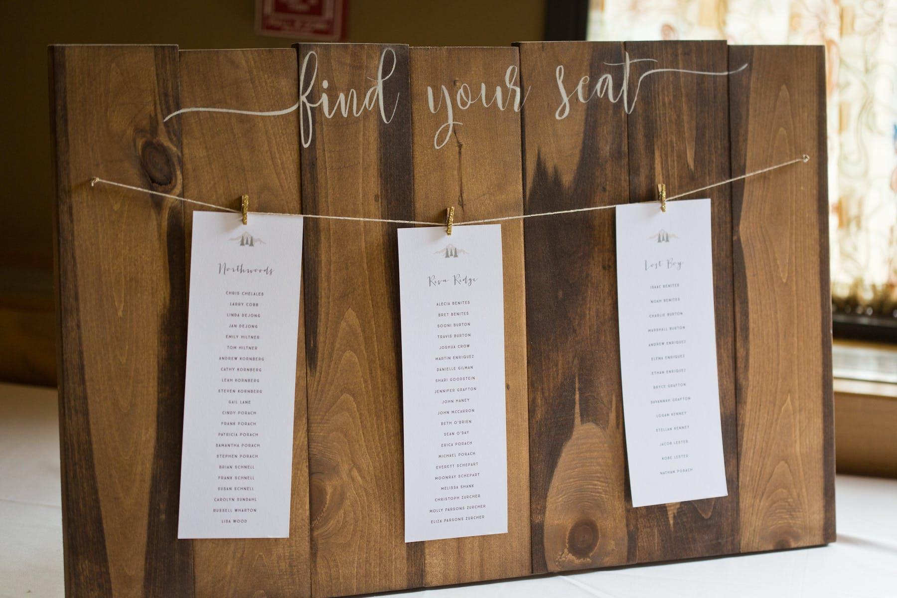 Larkspur Wedding Venue Vail Colorado Mountain Patio Table Assignment Chart