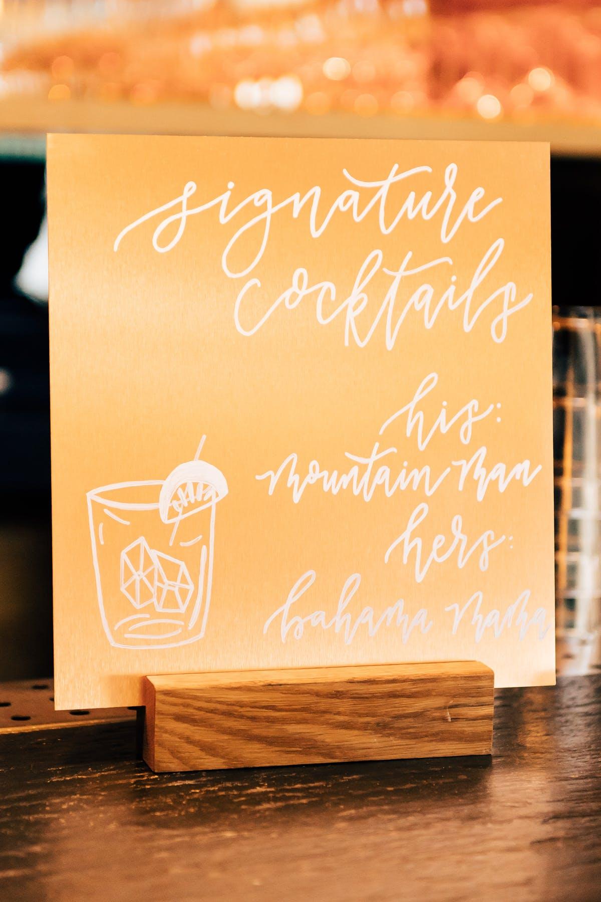 Larkspur Wedding Venue Vail Colorado Mountain Patio Bar Signage