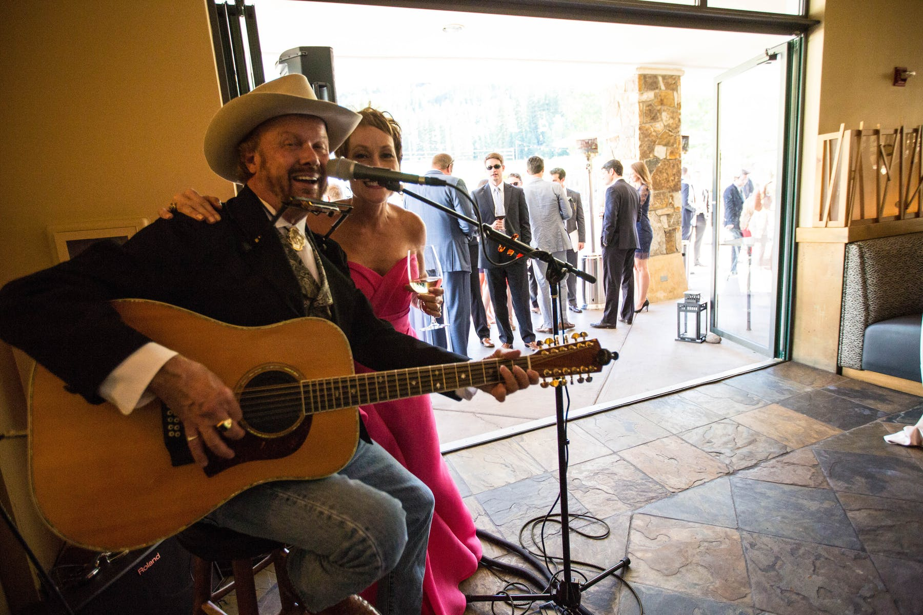 Larkspur Wedding Venue Vail Colorado Mountain Patio Outdoors Musicians