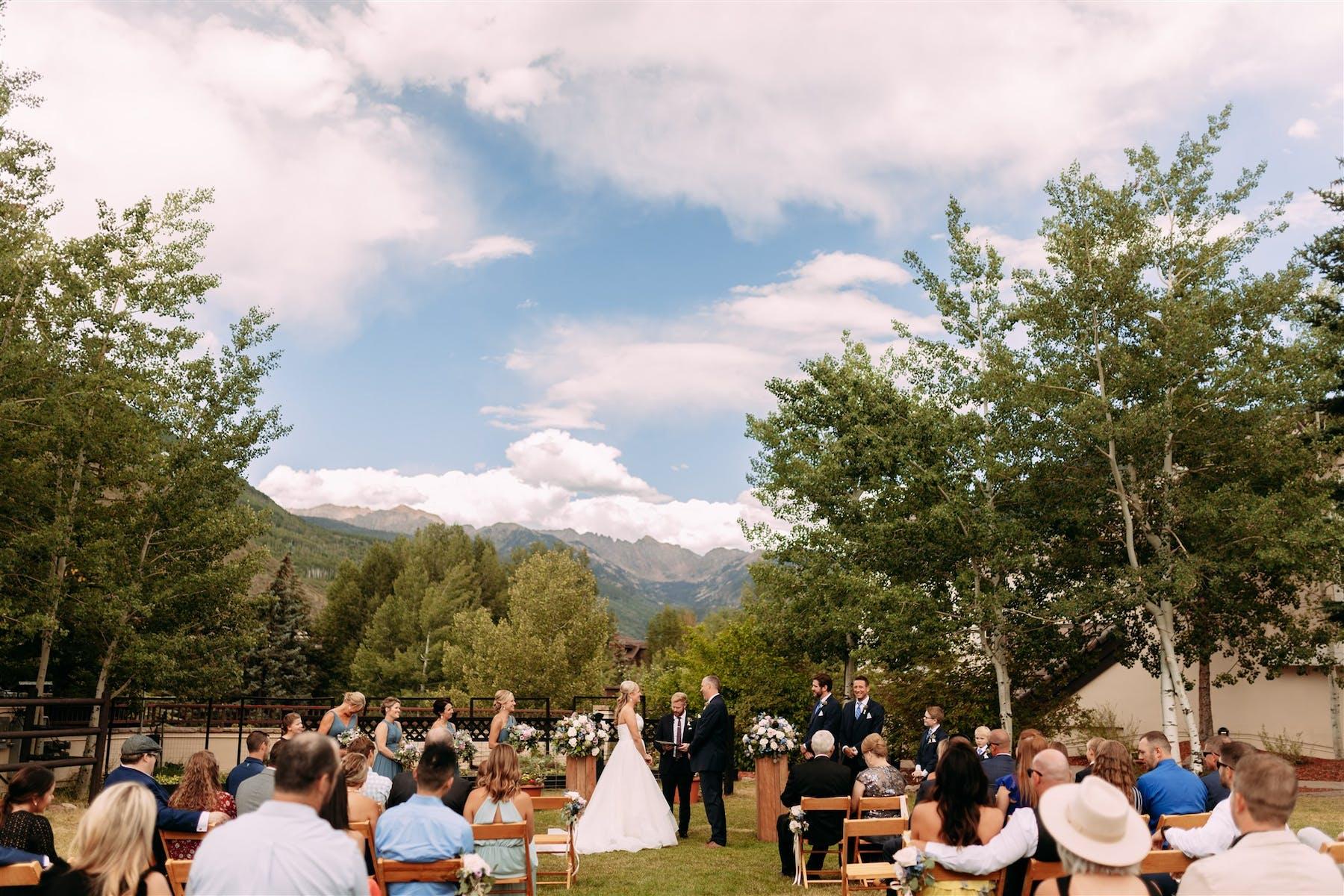Larkspur Wedding Venue Vail Colorado Mountain Wedding Ceremony Lawn