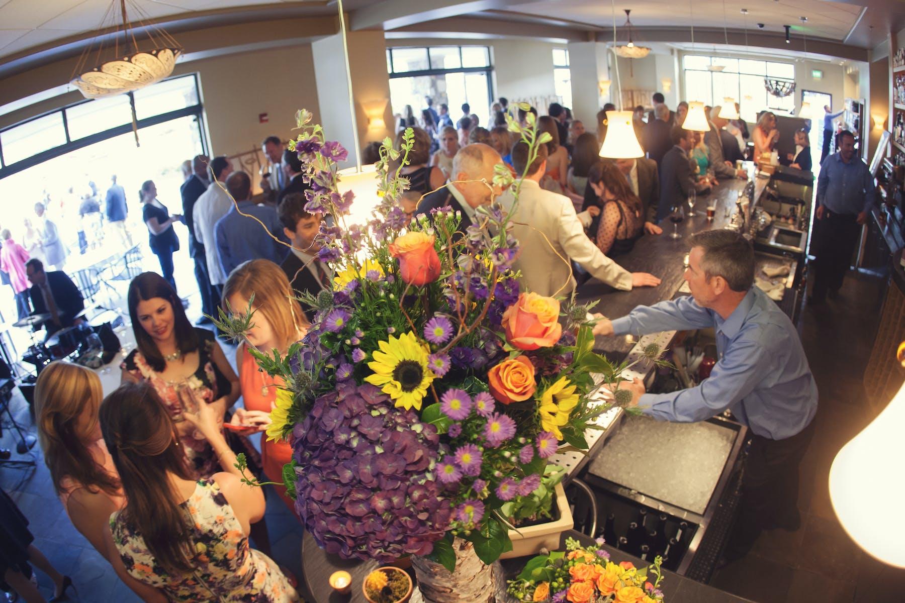 Larkspur Wedding Venue Vail Colorado Mountain Patio Outdoors Bar