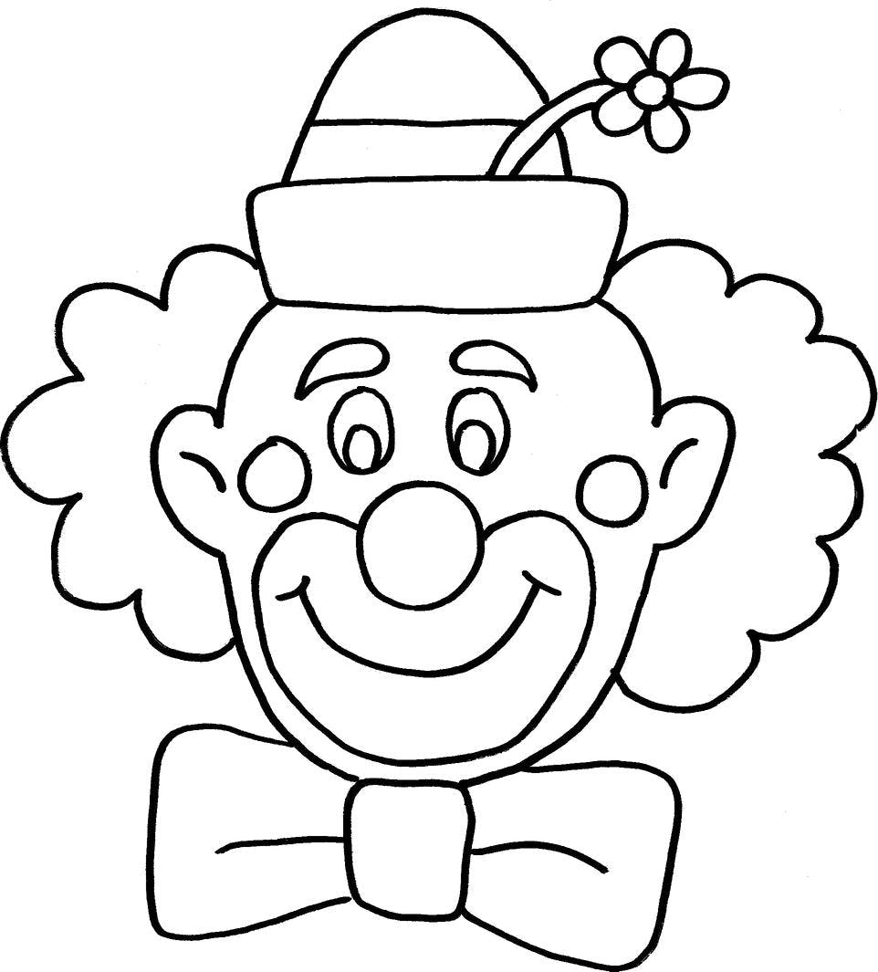 a drawing of a clown