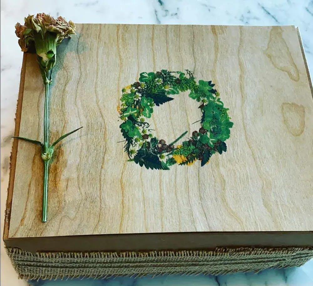 a wooden cutting board