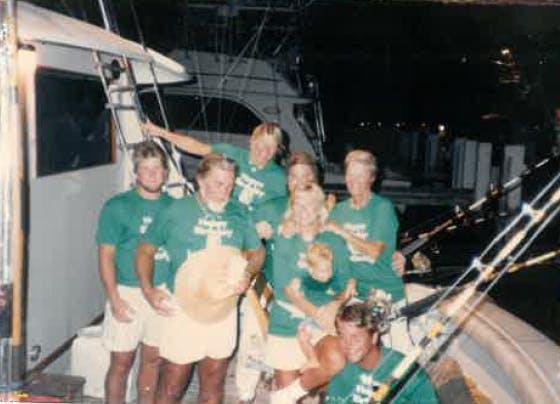 1980s fishing photo
