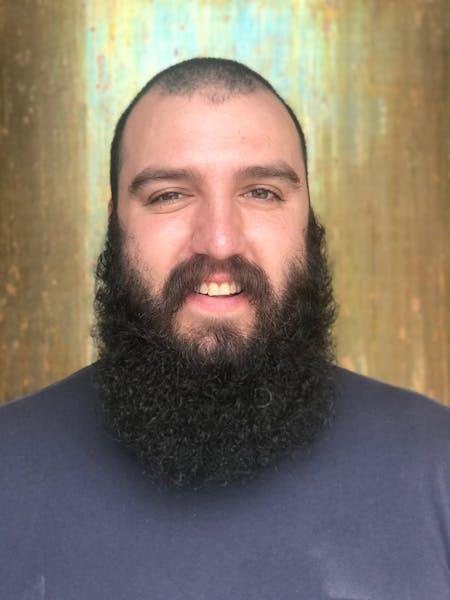 Yehuda Levin looking at the camera