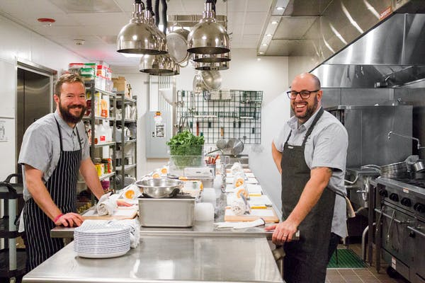 Holiday cooking class with Chef Chris Pandel in Wrigleyville restaurant kitchen
