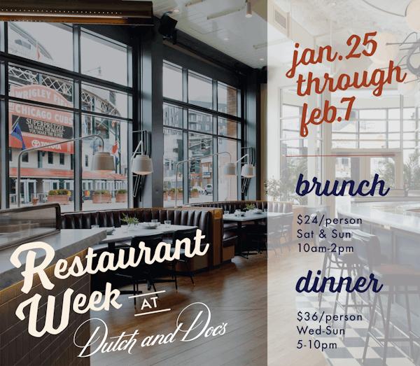 Chicago restaurant week menu at Boka Restaurant Group's Wrigleyville tavern