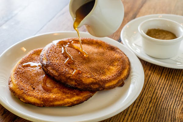 the famous ricotta pancakes at Maialino brunch
