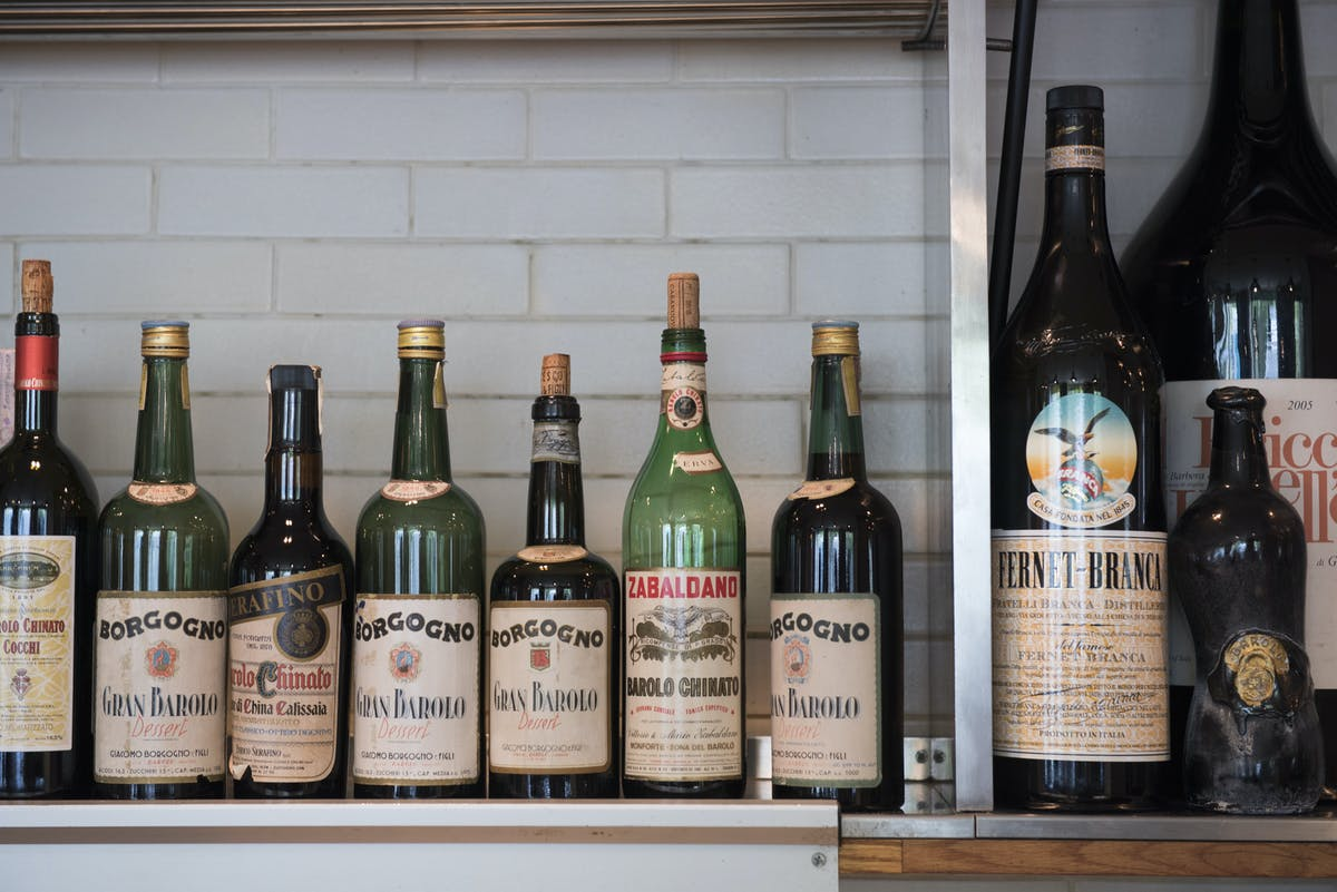 Maialino's collection of vintage amari
