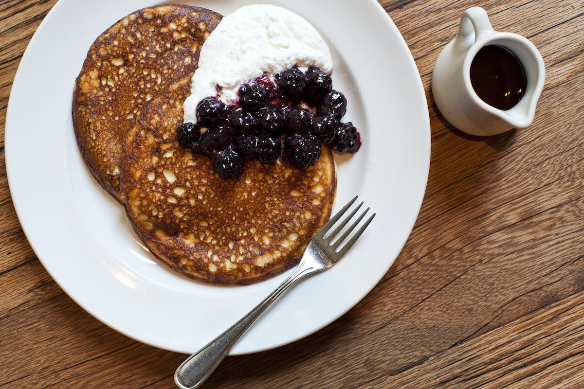 the ricotta pancakes from Maialino's brunch menu