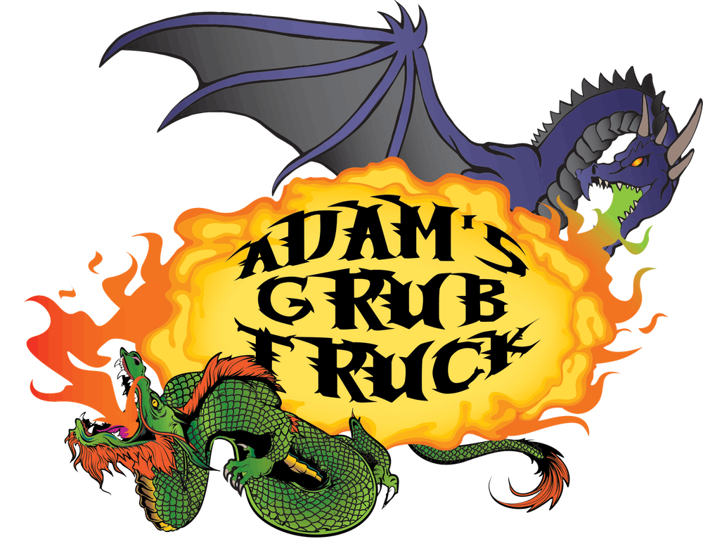 adam's grub truck logo