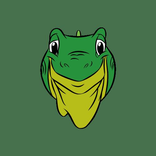 a cartoon of an iguana