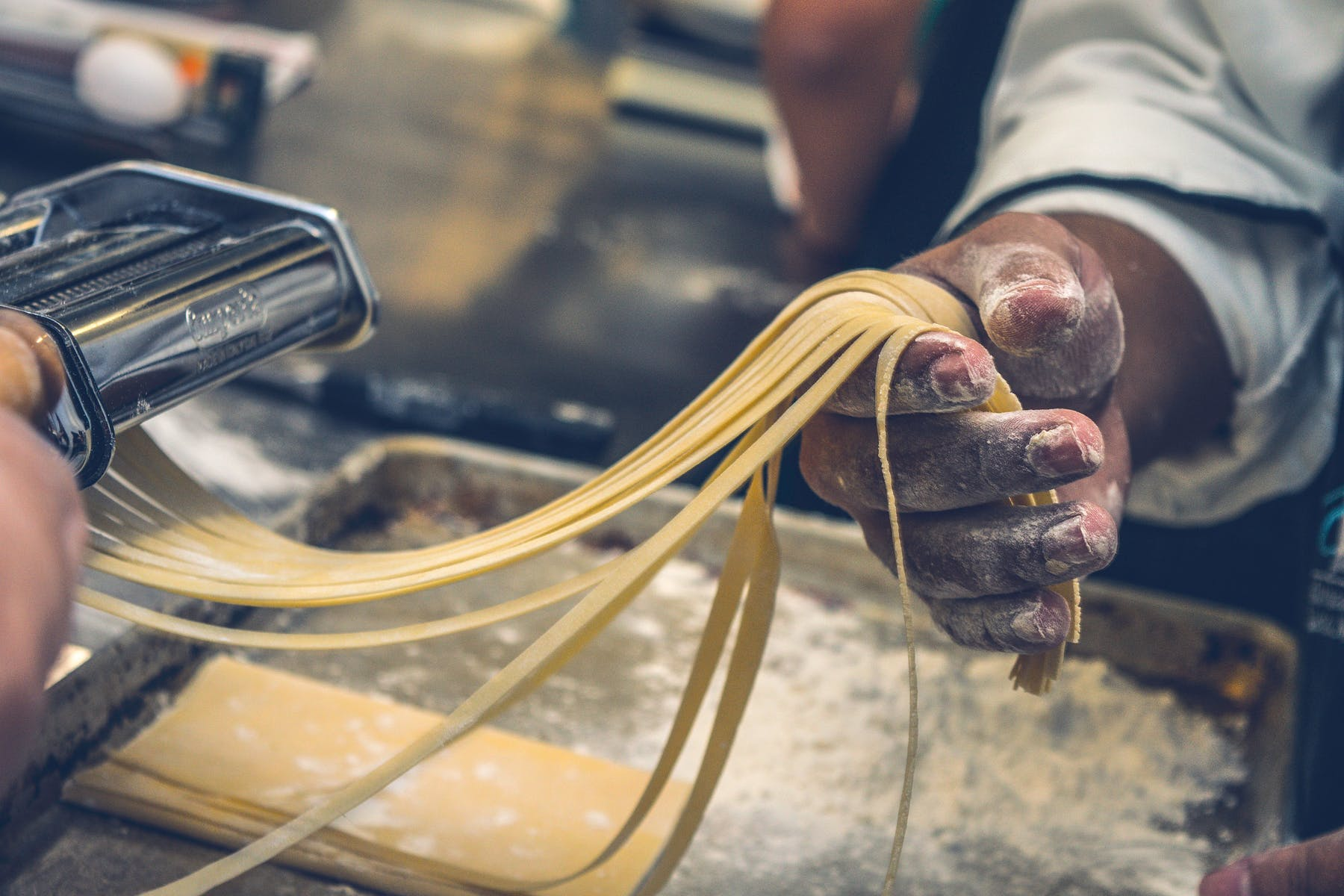 a man making pasta