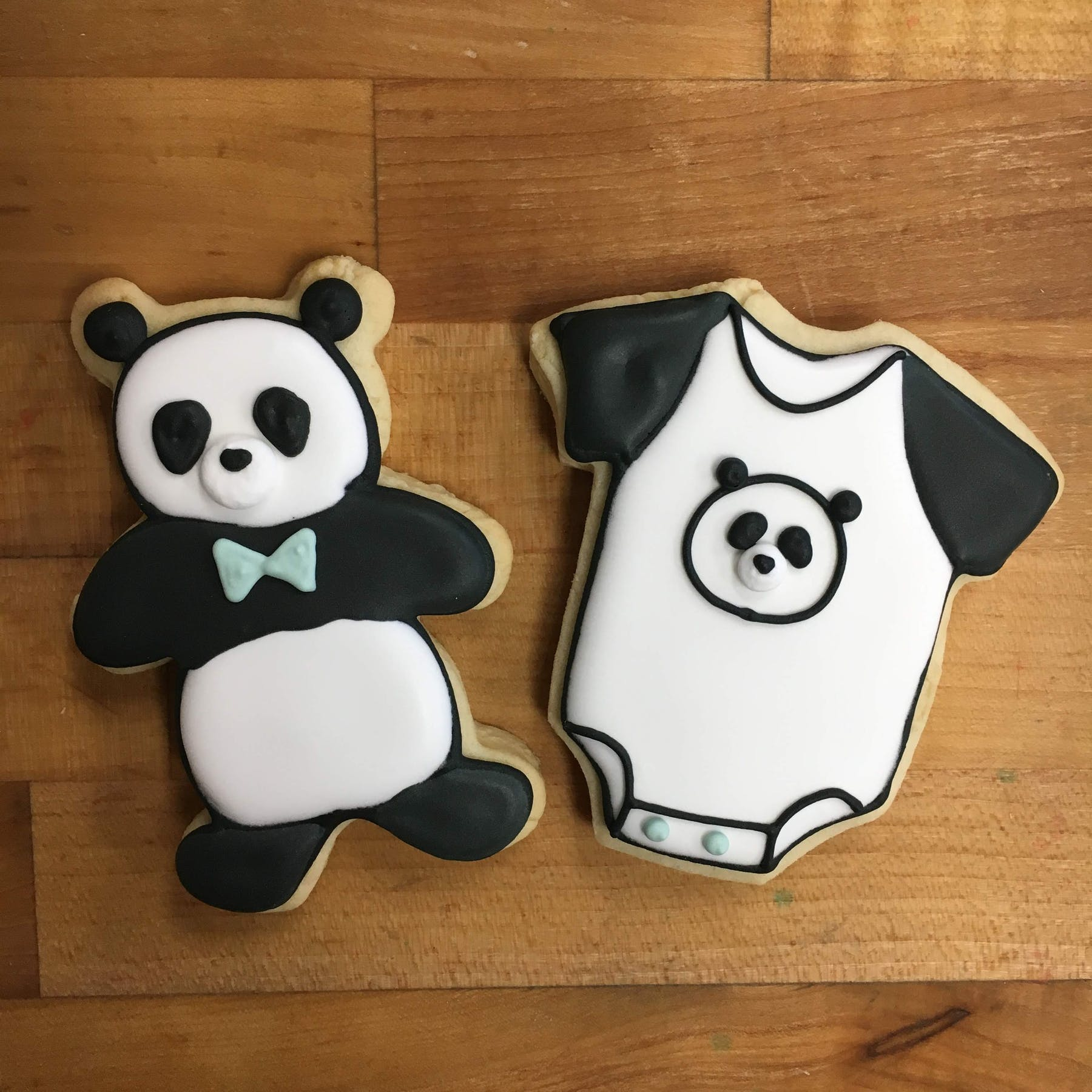 cookies shaped in the form of a panda