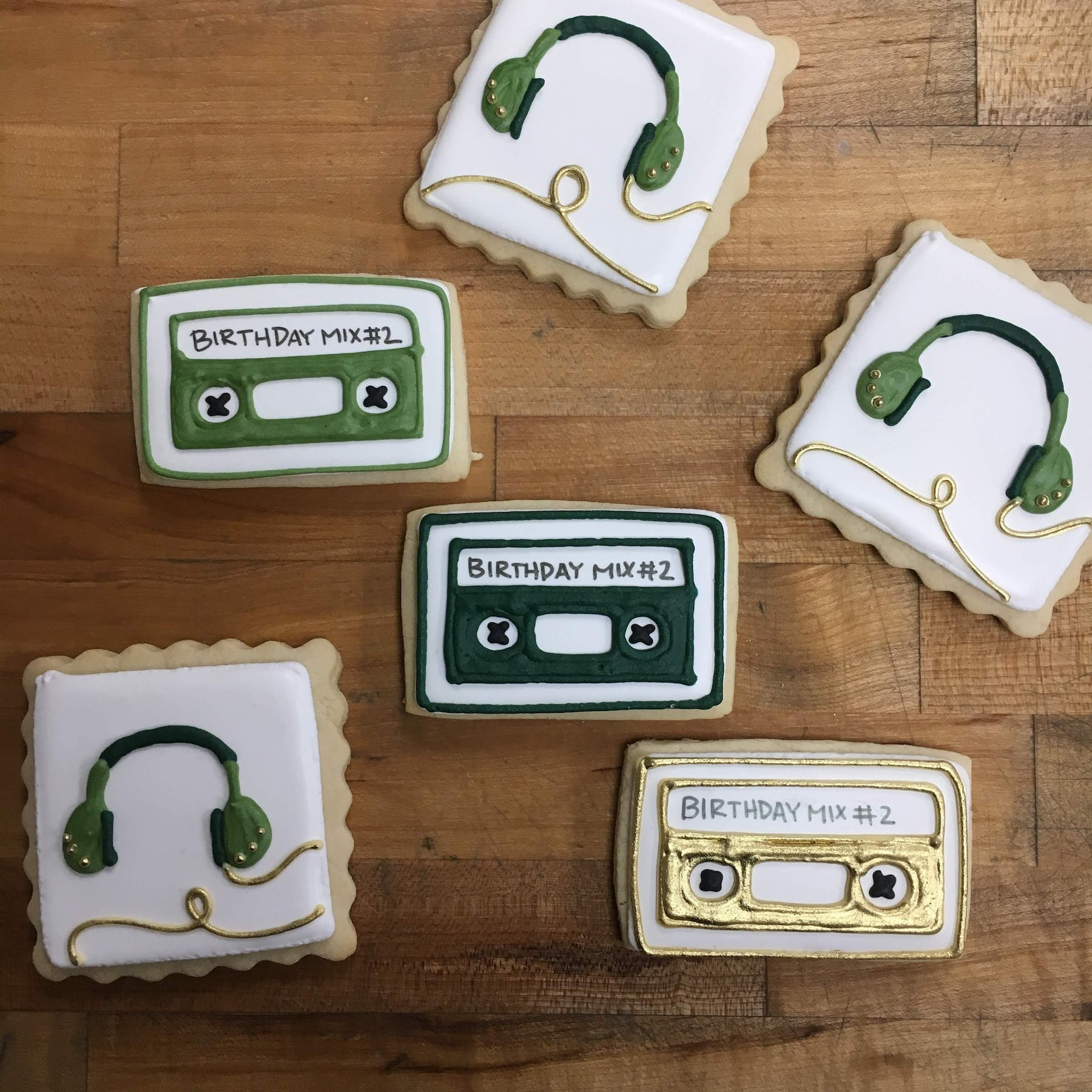 musician themed cookies