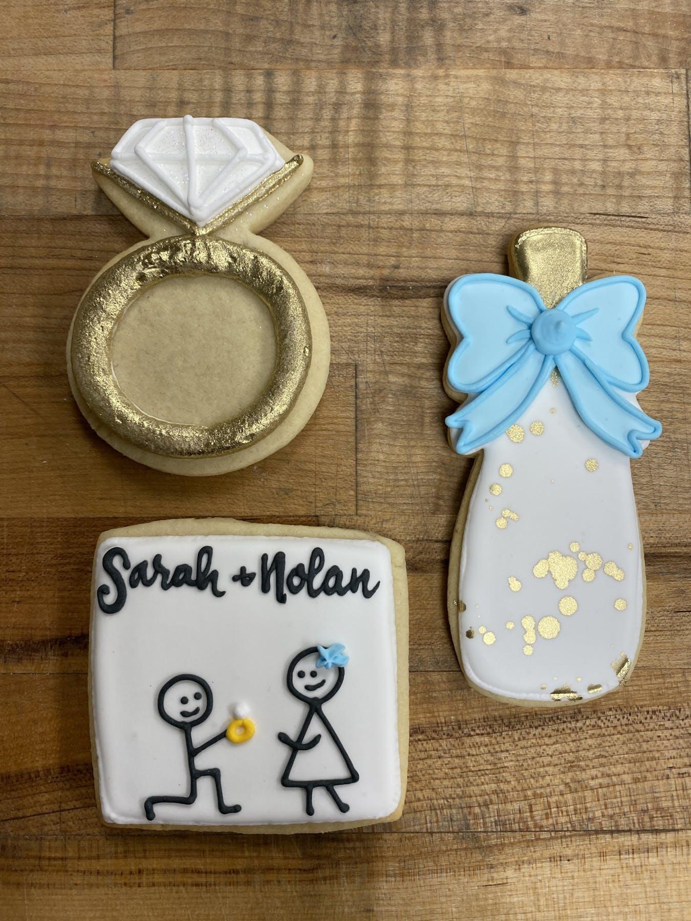 decorated cookies bridal/wedding