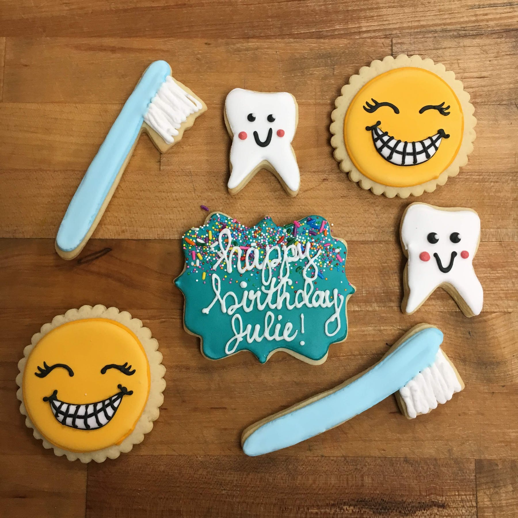 dentist themed cookies