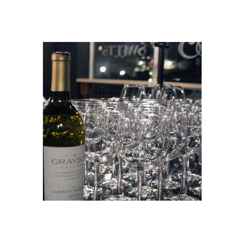 Wine Glasses & Bottle