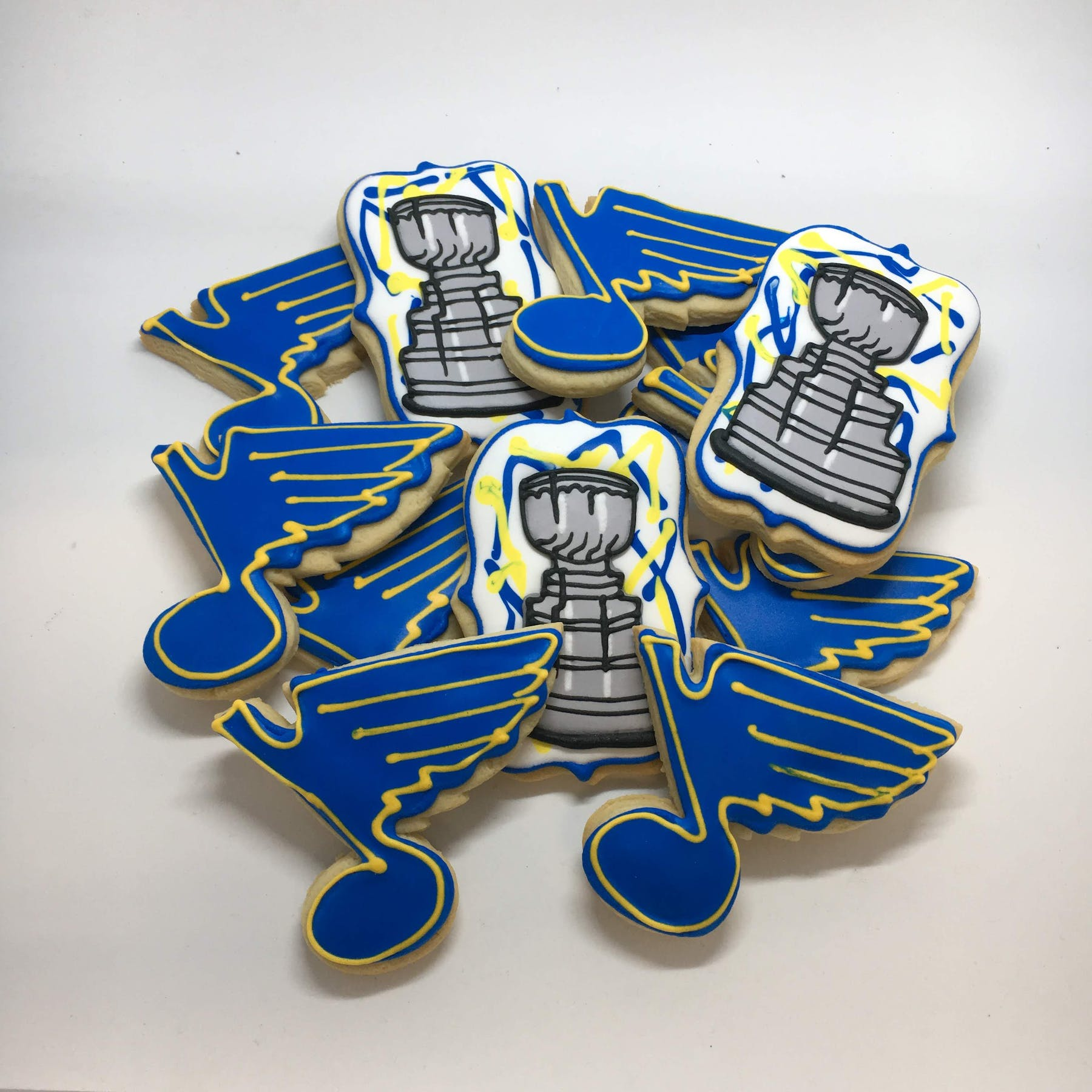 Blues & Stanley Cup themed cookies